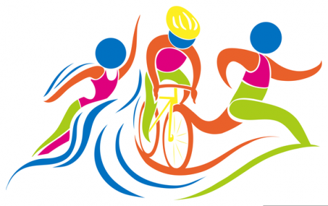 A triathlon consists on swimming, running, and biking. Photo from: http://www.clker.com