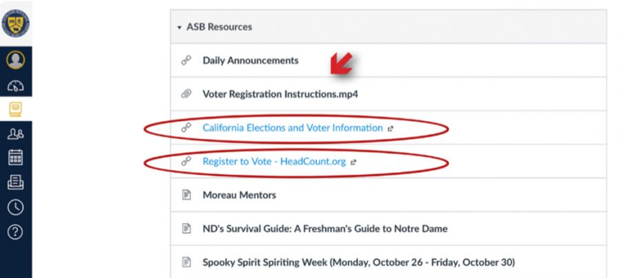 Links listed under ABS Resources to help guide you through pre-registering to vote.