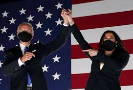 President elect Joe Biden and Vice President Kamala Harris celebrate victory. Photo by Olicer Douliery