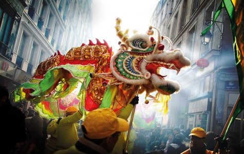 A Guo Nian Costume/Float reminding everyone of the celebration