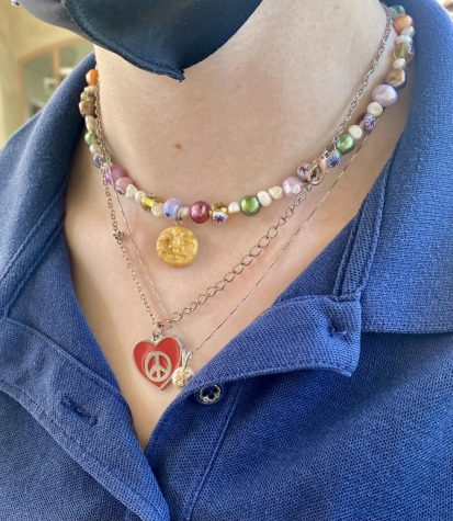 Necklaces can add style to your school uniform.
